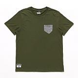 [자니카슨]JOHNNYCARSON - 배색포켓 티셔츠 - Khaki