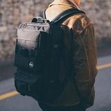 [스타일플랜] STYLEPLAN SQUARE FUTURE BACK PACK (BLACK)_스퀘어 사각 백팩 가방