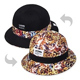 [레이든]LAYDEN - FLOWER LEOPARD BUCKET-REVERSIBLE_버킷햇_벙거지