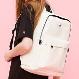[복 EVENT][에이비로드] ABROAD - 클래식백팩 white_ 가방 여자 레더 신학기 가방 학생가방 백팩