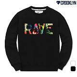 [크루클린] CROOKLYN 레이브 맨투맨 티셔츠 MRL349 크루넥 스��셔츠