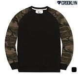 [크루클린] CROOKLYN 카모 레글런 맨투맨 티셔츠 MRL351 크루넥 스��셔츠