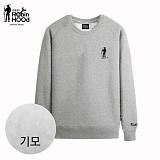[로빈후드]ROBINHOOD - 기모 맨투맨티셔츠-회색