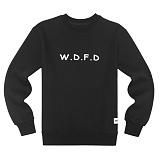 [에이지]AZ - WDFD CREWNECK (BLACK) 크루넥 스��셔츠 맨투맨