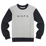 [에이지]AZ - WDFD CREWNECK (GREY/NAVY) 크루넥 스��셔츠 맨투맨