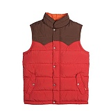 [폴러스터프]POLER STUFF - Guide Down Vest (Red/Beaver)