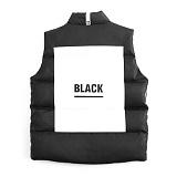 [피치블랙] BLACK LEATHER VT (black)_패딩조끼_패딩베스트
