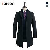 탑보이 - 지퍼포켓 배색 코트 (SU 426)