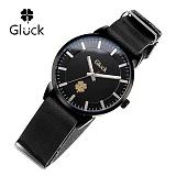 [Gluck]글륵 행운의 시계 GL2302-BKBK 나토 18mm 본사정품