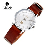 [Gluck]글륵 행운의 시계 GL2302-WHBR 나토 18mm 본사정품