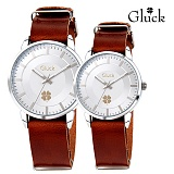 [Gluck]글륵 행운의 시계 GL1302 / GL2302 WHBR 커플시계 본사정품