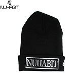 [뉴해빗]NUHABIT [N] - NU FONT - 블랙 - 비니