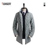 탑보이 - 베이직 싱글 퀄팅 코트 (YB 001)_coat