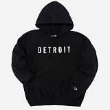 [Champion]챔피온 REVERSE WEAVE HOODED PULLOVER DETROIT (BLACK) 기모후드티 정품 국내배송