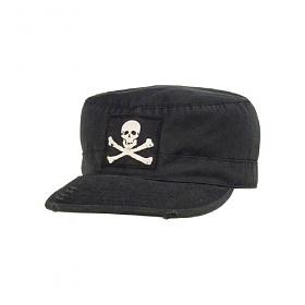 [로스코]ROTHCO - VINTAGE BLACK JOLLY ROGER FATIGUE CAP 군모