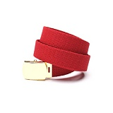 [로스코]ROTHCO - MILITARY COLOR WEB BELTS RED/GOLD 벨트