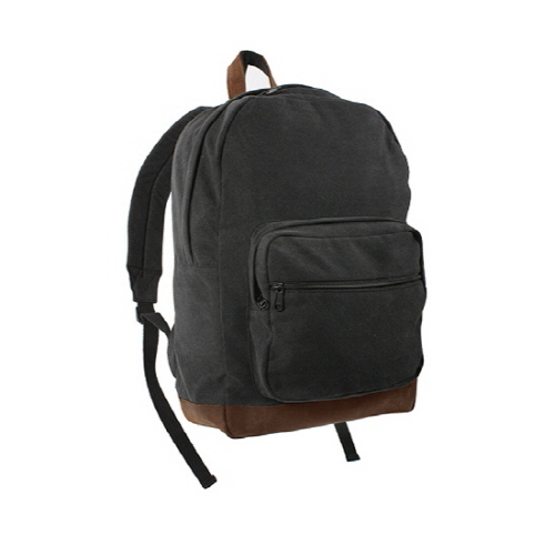 [로스코]ROTHCO - CANVAS TEARDROP PACK BLACK WITH LEATHER 백팩