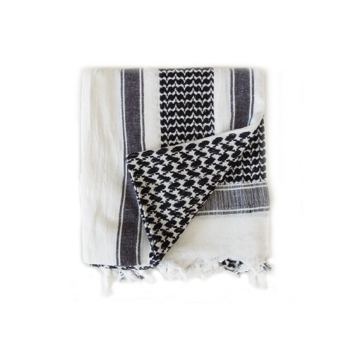 [로스코]ROTHCO - SHEMAGH TACTICAL DESERT SCARF(WHITE+BLACK) 스카프