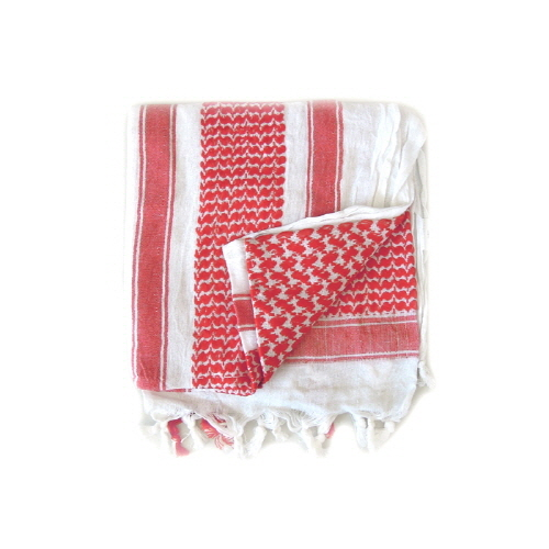 [로스코]ROTHCO - SHEMAGH TACTICAL DESERT SCARF(WHITE+RED) 스카프