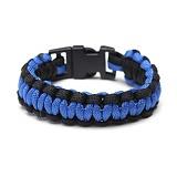 [로스코]ROTHCO - PARACORD BRACELET BLUE/BLACK 팔찌