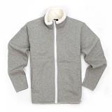 [유니어패럴] UNIAPPAREL 베이직 양털 스웨트 자켓 (그레이)양털 집업 자켓_재킷