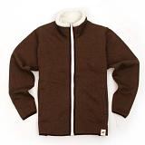 [유니어패럴] UNIAPPAREL 베이직 양털 스웨트 자켓 (브라운)양털 집업 자켓_재킷