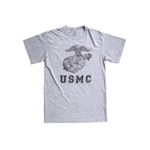 [로스코]ROTHCO - VINTAGE GREY USMC GLOBE AND ANCHOR TEE 반팔티