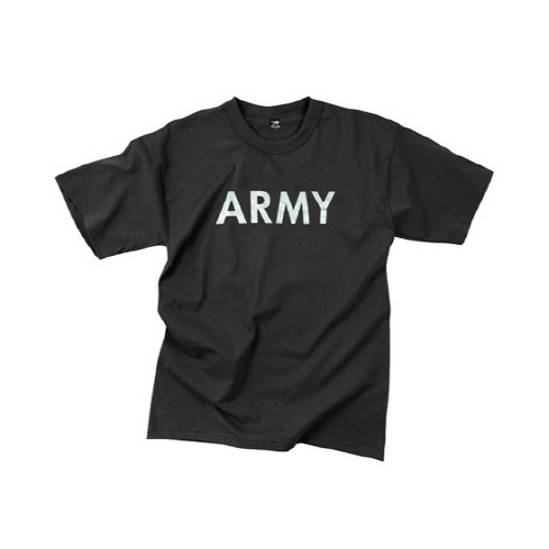 [로스코]ROTHCO - BLACK ARMY P/T TEE - REFLECTIVE GREY 아미 반팔티