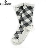 뉴해빗 - Stone squre socks - 양말 - 보카시그레이