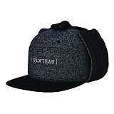 PLATEAU - QUILTING MUFFLE SNAPBACK_BLACK 트래퍼