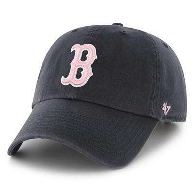 47브랜드 - MLB모자 보스톤레드삭스 네이비핑크(한정모델) 야구모자