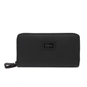 [라코스테]LACOSTE - Womens Classic Large Zip Wallet NF1262WM-000 (BLACK)