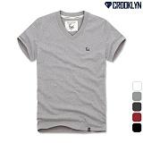 [크루클린] CROOKLYN 로고 브이넥 반팔 티셔츠 TVS078 반팔티