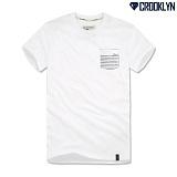 [크루클린] CROOKLYN 라인포켓 반팔 티셔츠 TRS088 반팔티