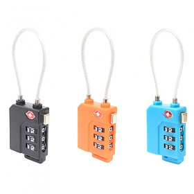 [TCUBE] 티큐브 TSA 케이블 안전자물쇠 - 3다이얼