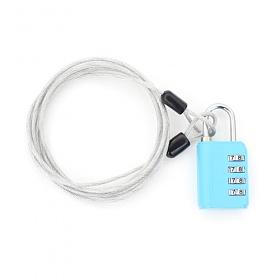 [TCUBE] 티큐브 멀티 안전케이블 + 4다이얼 안전자물쇠 세트 - 2.5M