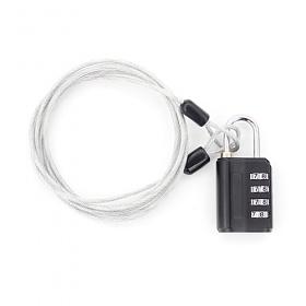 [TCUBE] 티큐브 멀티 안전케이블 + 4다이얼 안전자물쇠 세트 - 1.5M