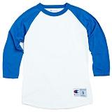 [Champion] T1397 챔피온 C 랭글러 7부 티셔츠 wht/blue 나그랑 래글런 롱 슬리브 정품 국내배송
