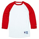 [Champion]T1397 챔피온 C 랭글러 7부 티셔츠 wht/red 나그랑 래글런 롱 슬리브 정품 국내배송