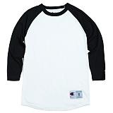 [Champion]T1397 챔피온 C 랭글러 7부 티셔츠 wht/blk 나그랑 래글런 롱 슬리브 정품 국내배송
