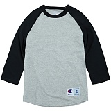 [Champion] T1397 챔피온 C 랭글러 7부 티셔츠 grey/blk 나그랑 래글런 롱 슬리브 정품 국내배송