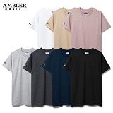[엠블러]AMBLER 신상 반팔 무지티셔츠 7 COLOR - AM201 무지 반팔티
