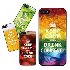 디팍스 - KEEP CALM DRINK 갤럭시(전기종) BLACK CASE
