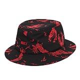 [오베이]OBEY - DEATH TOUCH BUCKET HAT 100140320 (RED MULTI) 버킷햇