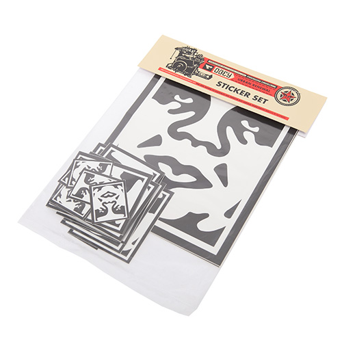 [오베이]OBEY - STICKER PACK 2-ICON FACE 100270001 (ASSORTED) 스티커 세트