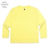 [레이쿠키즈] reiku kids plain long yellow 무지 롱 긴팔티