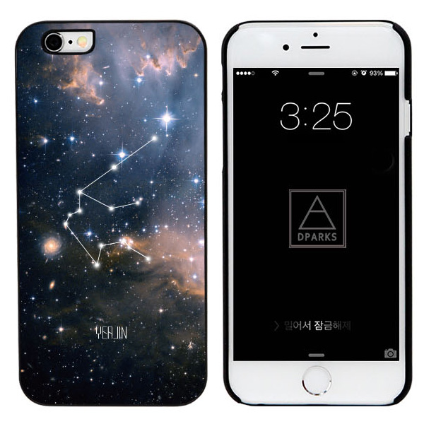 디팍스 - 나만의 별자리 이니셜 제작(4STYLE) BLACK CASE