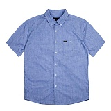 [브릭스톤]BRIXTON - Central S/S Woven (Heather Blue) 반팔 남방 셔츠