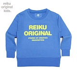 [레이쿠키즈] reiku kids original typo mtm blue 맨투맨