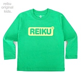 [레이쿠키즈] reiku kids round box long green 롱 긴팔티